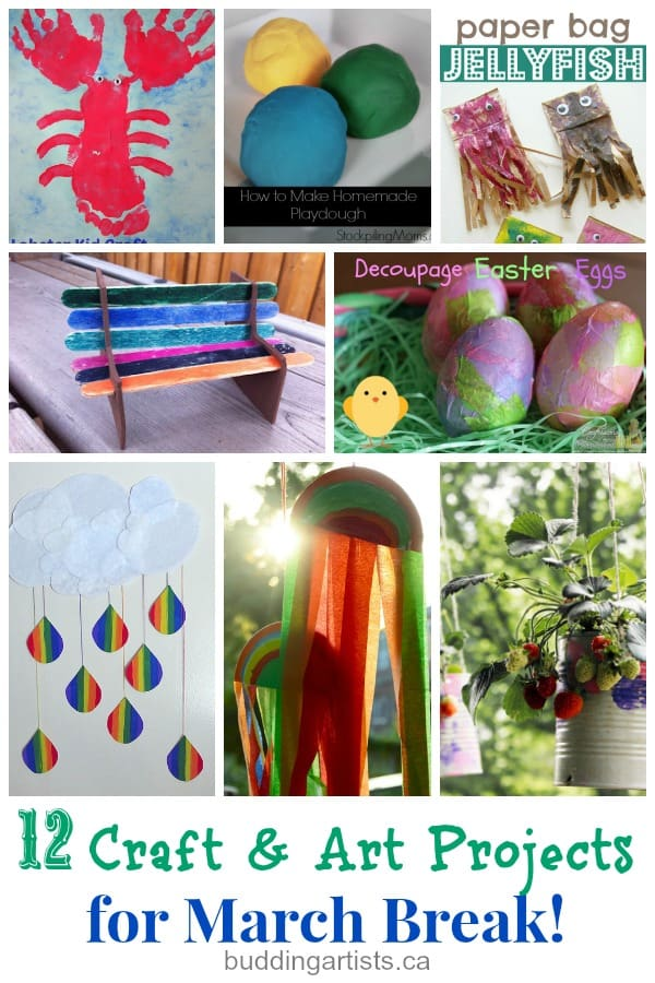 12 Craft and Art Projects for March Break - buddingartists.ca