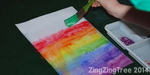 Rainbow Paint Bleed