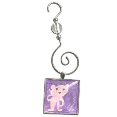 one ornament with square art image